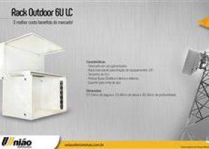 UNIÃO - RACK OUTDOOR LC 6U - (L53 X A34 X P31CM)