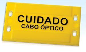 PLAQUETA IDENTIFICAÇÃO FIBRA OPTICA