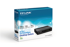 SWITCH TP-LINK 16P TLSF1016D 10/100
